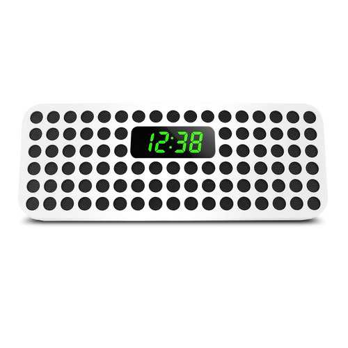 Philips Bluetooth Wireless Speaker with Clock Display, White (Refurbished)