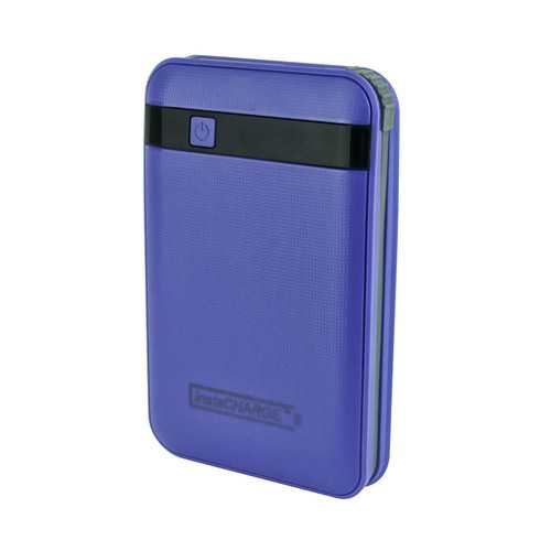 InstaCHARGE 11000mAh Power Bank Portable Device And Phone Charger - Purple