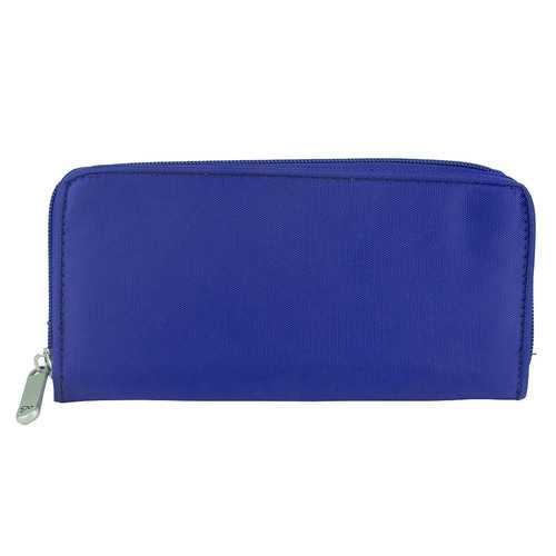Travelon RFID Blocking Ladies Zip Security Card Holder Wallet - Royal Blue
