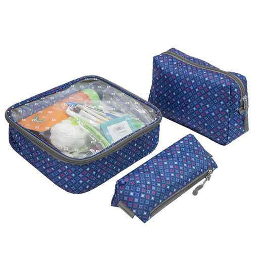 Travelon 3-Piece Toiletry Packing Set Diamond Sparkle