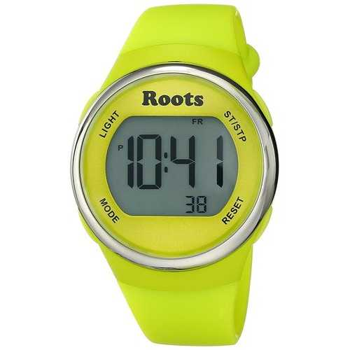 Roots Cayley Womens Resin Strap Digital Chronograph Watch Backlight Alarm Yellow