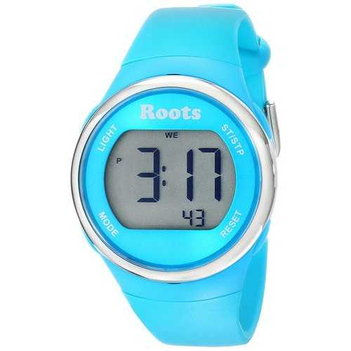 Roots Cayley Womens Resin Strap Digital Large Digit Watch Backlight Alarm Aqua