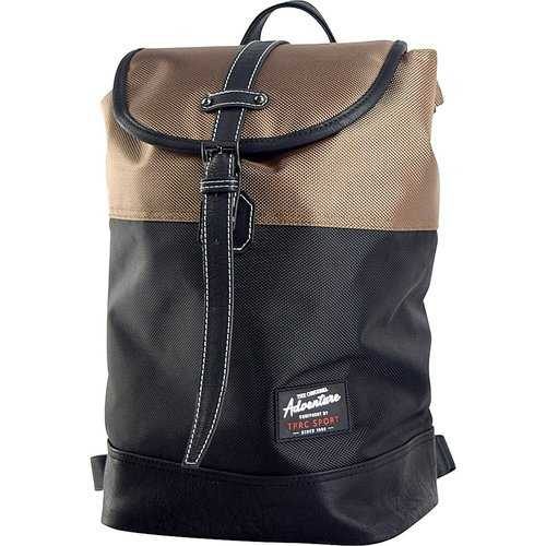 Travelers Club Heavy Duty 14 Laptop Backpack - Black/Brown