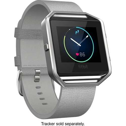 Fitbit - Blaze Luxe Accessory Band (Large) - Mist Gray (Refurbished)