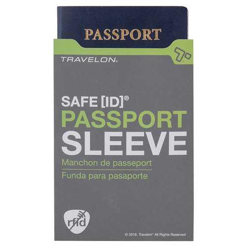 Travelon SafeID RFID Blocking Passport ID Protected - Gray, 2Pack