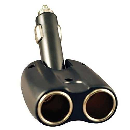Panavise 15951 Dual DC 12V Cigarette Lighter Car Power Adapter Outlet