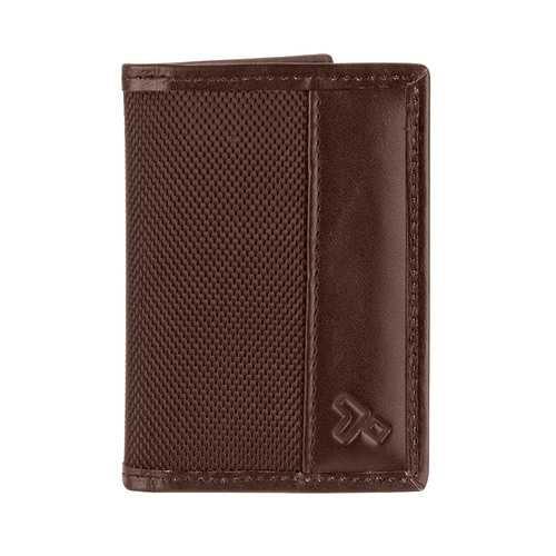 Travelon Hack-Proof RFID Blocking Bifold Card Holder Slim Wallet Brown