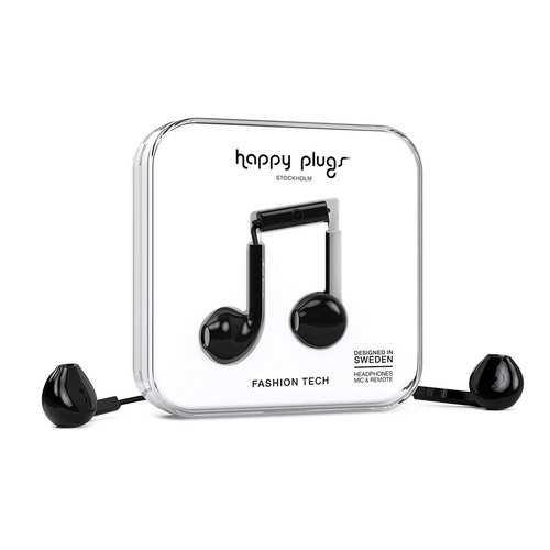 Happy Plugs Earbud Plus Headphone - Black