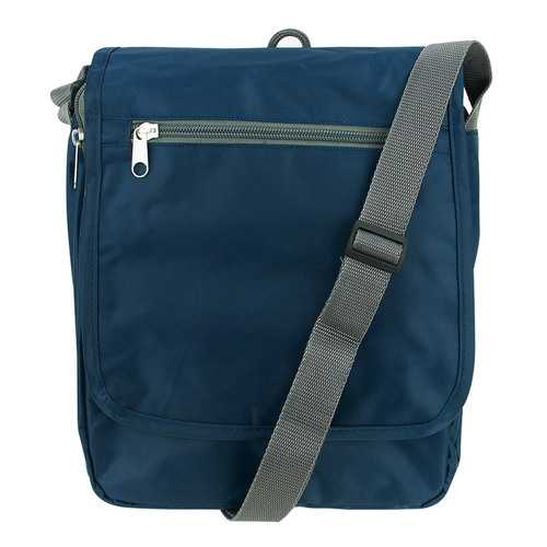 Travelon Triplogic RFID BLocking Slim Travel Luggage CrossBody Day Bag Navy