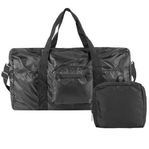 Travelon Triplogic Foldable Travel Duffel Luggage Sports Gym Carry-On Bag Black