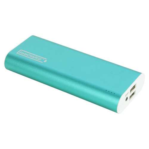 instaCHARGE 12000mAh Dual USB Power Bank Portable Battery Charger - Turquiose