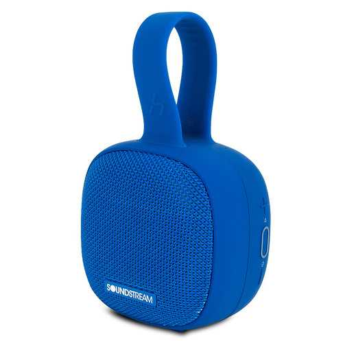 Soundstream h2GO IPX7 Waterproof Portable Bluetooth Speaker, Blue (Refurbished)