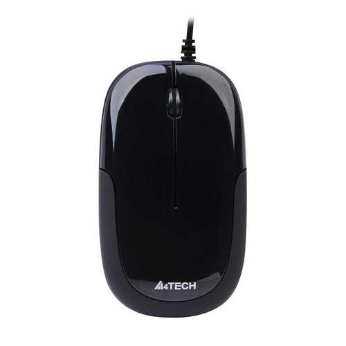 A4Tech Ergonomic USB Travel Mouse 1000 DPI Symmetrical Dust Free D-110-1