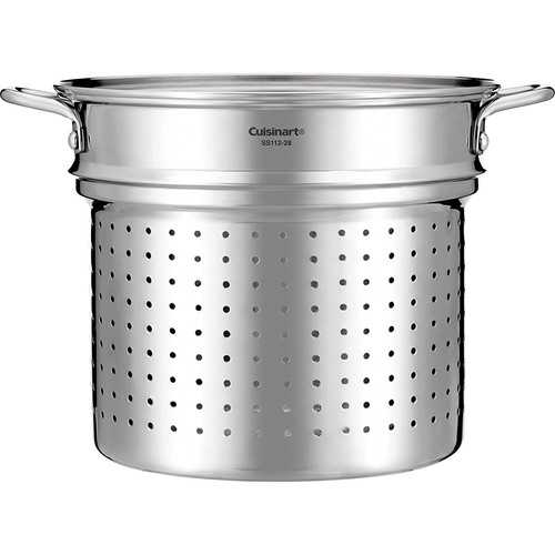 Cuisinart SS112-28GBCP Steamer Insert with Self-Draining Clip, 12 quart, Stainless Steel