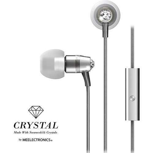 MEE Audio Crystal In-Ear Wired Headphones Silver M11J-SL