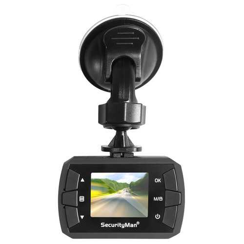 SecurityMan MicroHD Car Camera Recorder Dashcam with Built-In Impact Sensor