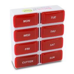 Detach N Go 7 Day Detachable Pill Organizer with Pill Cutter