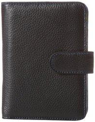 Travelon Leather Safe ID Color Block Bi-Fold Tab Wallet, Black