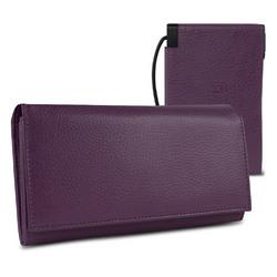 "Halo Women""s Hack-Proof Power Wallet 3000 w/ RFID Protection (Purple)"