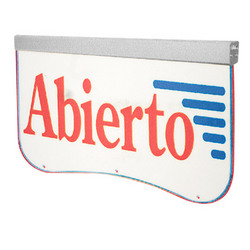Actiontek Acrylic LED Sign - Abierto
