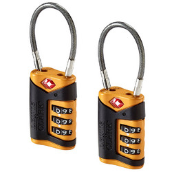 Lewis N. Clark TSA-Approved Combination Luggage Lock With Steel Cable - 2-Pack