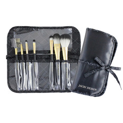 Jacki Design Vintage Allure 7 PC Make Up Brush Set And Bag - Black