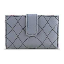 Travelon SafeID Embroidered Tri-Fold RFID Wallet - Gray/Scarlet