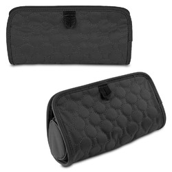 Travelon Jewelry and Cosmetic Clutch with Removable Center Pouch, Black Quilted