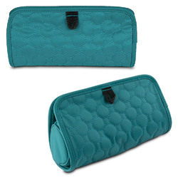Travelon Jewelry and Cosmetic Clutch with Removable Center Pouch, Jade Quilted