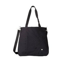 "Haiku Women""s Journey Eco Tote Bag, Black w/ Plum Stitch"