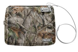 Vaultz Water-Resistant Large Locking Field Pouch with Tether, Camo