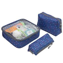 Travelon 3-Piece Toiletry Packing Set Diamond Sparkle