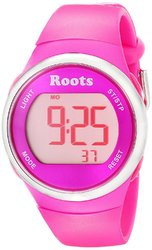 Roots Cayley Womens Resin Strap Digital Chronograph Watch Backlight Alarm Pink