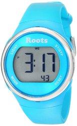 Roots Cayley Womens Resin Strap Digital Large Digit Watch Backlight Alarm Aqua