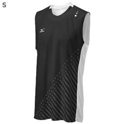 "Mizuno DryLite Men""s National VI Sleeveless Jersey, Black & White - S"