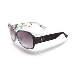 Realtree APS Snow Camo Draw Sunglasses Black Frame/Smoke Lens REW2031