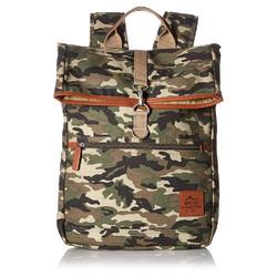 "Buxton Men""s Expedition II Huntington Gear Fold-Over Canvas Backpack CAMO"