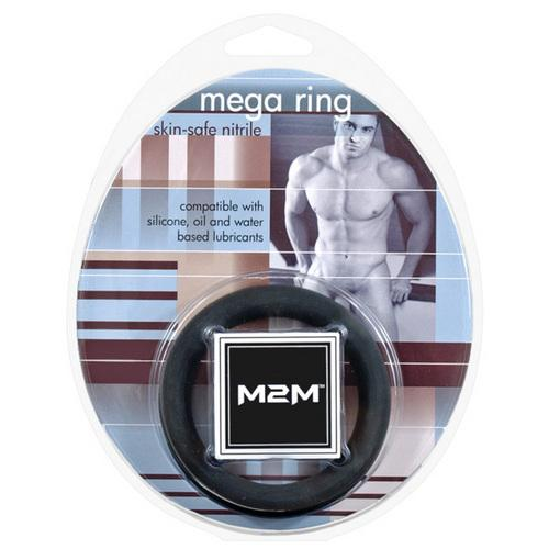M2M Mega Nitrile Cock Ring - Large Black