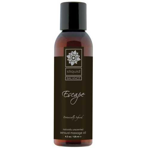 Sliquid Organics Massage Oil - 4.2 oz Escape