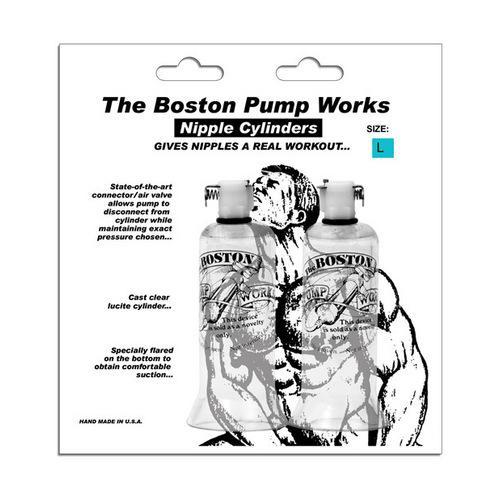 """Boston Pump Works Nipple Cylinders  1 """" - Pair"""