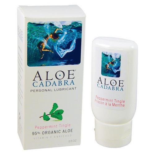 Aloe Cadabra Organic Lubricant - 2.5 oz Peppermint Tingle