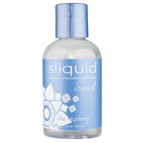 Sliquid Naturals Swirl Lubricant - 4.2 oz Bottle Blue Raspberry