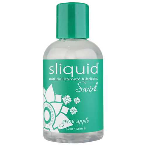 Sliquid Naturals Swirl Lubricant - 4.2 oz Bottle Green Apple