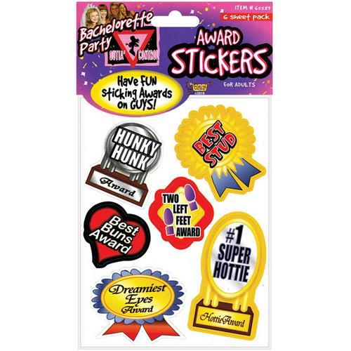 Bachelorette Award Stickers - 6 Sheets
