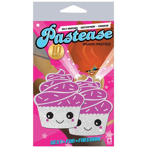 Pastease Cupcake Glittery Frosting Nipple Pastie - White O/S