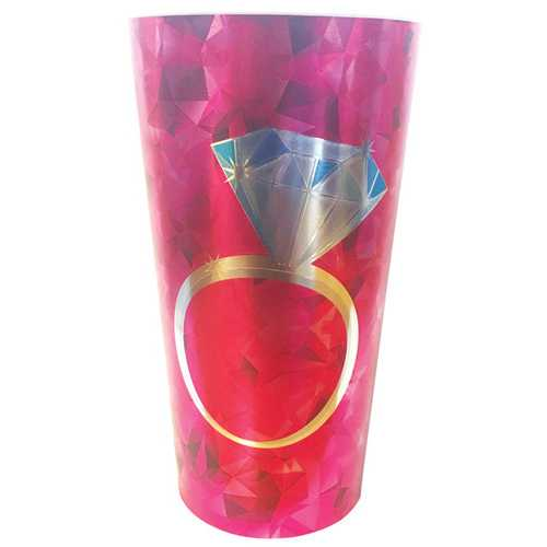 Diamond Ring Foil Drinking Cup