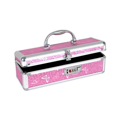 Lockable Vibrator Case - Pink