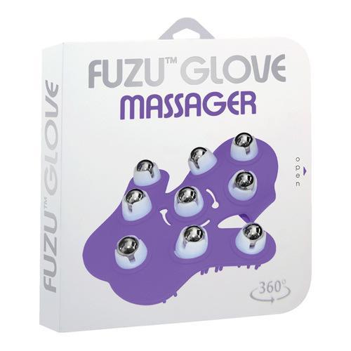 Fuzu Glove Massager - Neon Purple