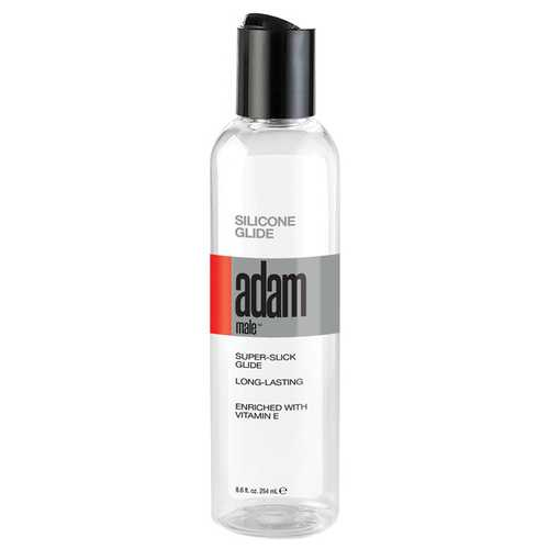 Adam Male Silicone Glide - 8.6 oz Clear