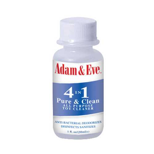 Adam & Eve 4 In 1 Pure & Clean Misting Toy Cleaner - 1 oz Clear